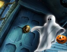 Halloween ghost costume - Trick or Treat