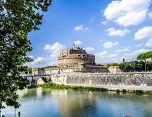 Castel Sant'Angelo - bridge over Tiber - Rome, Italy
