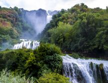 Beautiful view of Cascata delle Marmore - Umbria, Italy