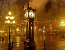 Clock in the middle of the town - Gastown, Vancover