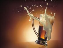 Smashing a beer mug - HD wallpaper