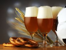 Beer, pretzels and football - perfect combination
