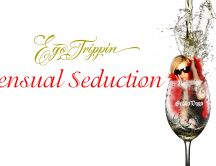 Sensual seduction - girl in a glass of wine HD wallpaper