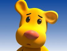 Cartoon character - funny yellow animal HD wallpaper