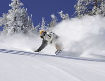 Brake Snowboard - Snow wave HD wallpaper