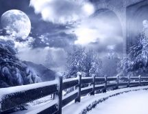 Abstract winter landscape HD wallpaper