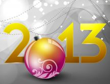 2013 on a gray background HD wallpaper