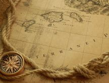 Old map - yellowing of time HD wallpaper