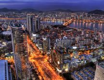 Landscape - Beautiful Seoul at night HD wallpaper