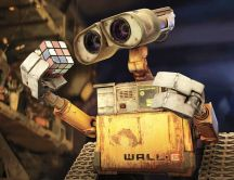 Wall-E robot discovered magic cube HD wallpaper