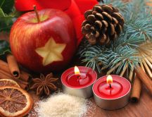 Christmas spices and fruit specific HD wallpaper