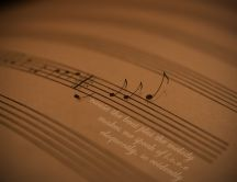 Musical notes flying HD wallpaper