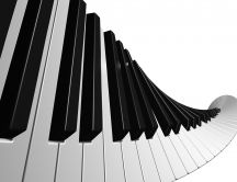 Piano keys in spiral shape HD wallpaper