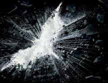 The dark knight rises - pieces of rock fall from the sky