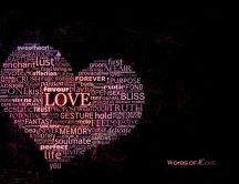 A heart full with words of love - HD wallpaper