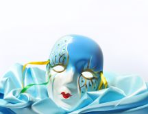 A beautiful blue mask for the carnival