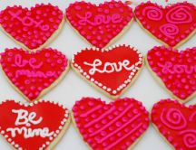 Love messages on crackers - Valentine's Day