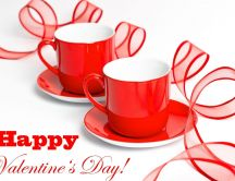 Cups of tea for the day of Valentine's Day