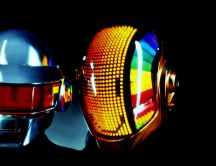 Music robot - helmet full of colored lights