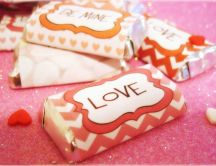 Candy love bar - Valentine's Day