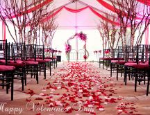 Marriage ceremony on Valentine's Day