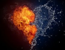 The heart - love between water and fire