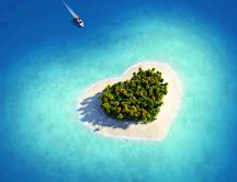 The most beautiful part of the sea - heart-shaped island