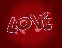 Love in 3D - HD wallpaper