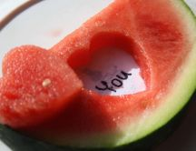 I love you - watermelon carving HD wallpaper