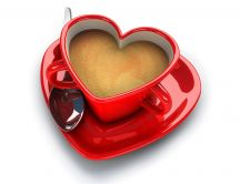 The perfect cup for coffee - red heart