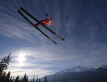Ski jumping - Elan ski HD wallpaper