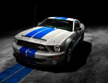 Two blue stripes - Ford Mustang Shelby GT500