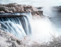 Landscape from Niagara fall - spring is coming