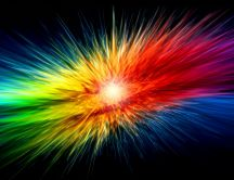 Explosion of colors - fantastic HD wallpaper