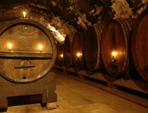 Old wine cellar full of mystery - HD wallpaper