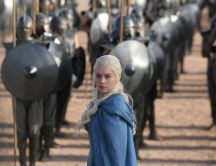 Daenerys Targaryen and the army - Game of Thrones