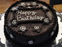 Delicious chocolate cake - Happy birthday