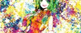 Gadis - beautiful anime girl - color princess