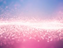 Pink crystals shown in light - HD wallpaper