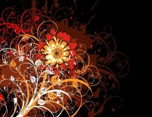Orange flower - art design