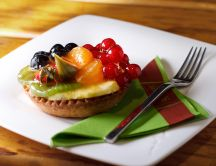 Delicious fruit tart - daily dose of sweet