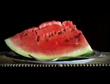 Delicious piece of watermelon - HD wallpaper