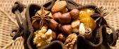 Walnuts, almonds and hazelnuts -combination full of vitamins