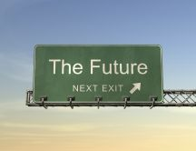 Optimistic picture - future is at next exit