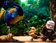 Animation movie - rainforest scene