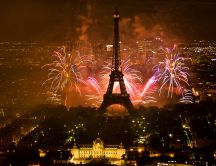 Fireworks for Day of France - 14 July every year