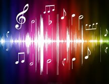 Sound waves of music - abstract colorful HD wallpaper