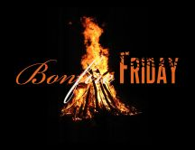 Campfire in the night - Bonfire Friday