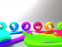 Colorification - funny colorful smiley faces
