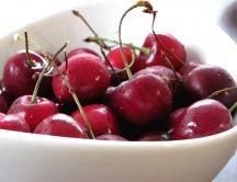 A giant bowl full of cherries - HD summer fruit